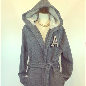 Abercrombie & Fitch Women's Fleece Hooded Robe S/M